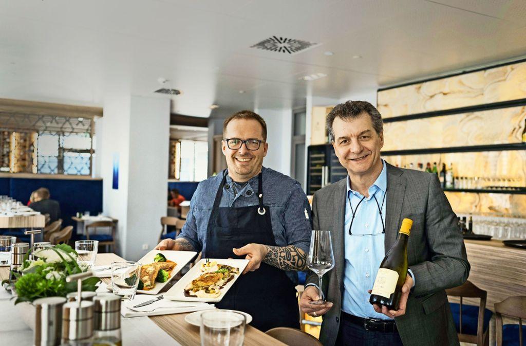 Patron Giuseppe Livornese (rechts) undStefano Arrighi im Aria Foto: Lichtgut/Max Kovalenko
