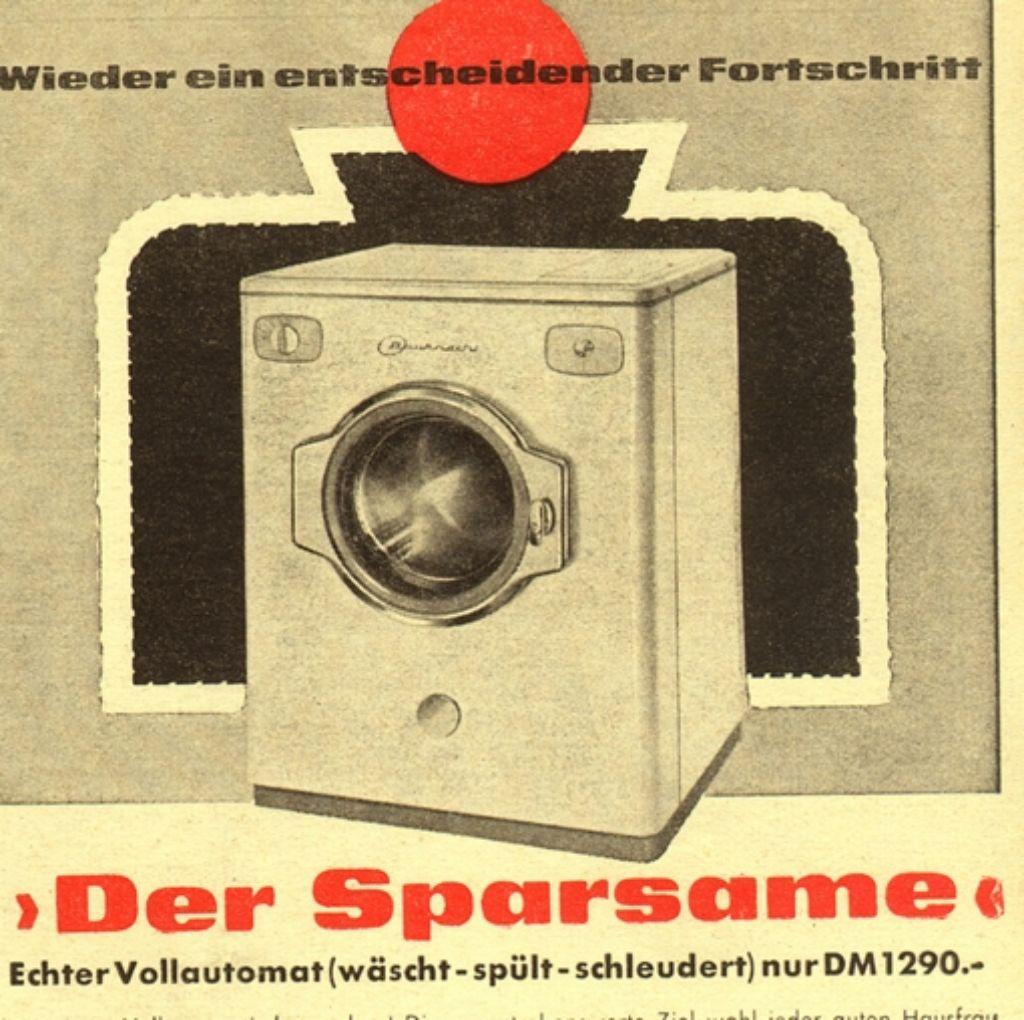 Eine Bauknecht-Werbung aus der guten alten Zeit Foto: Archiv