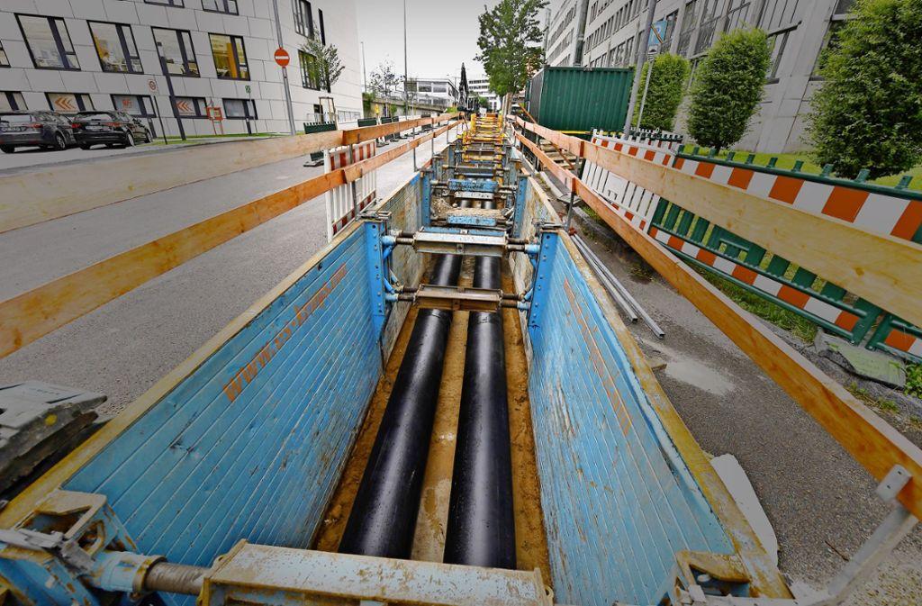 Um den Betrieb des Fernwärme-Leitungsnetzes streiten sich Stadt und EnBW vor Gericht. Die SPD drängt jetzt auf einen Stopp des Verfahrens. Foto: ARTIS - Uli Deck