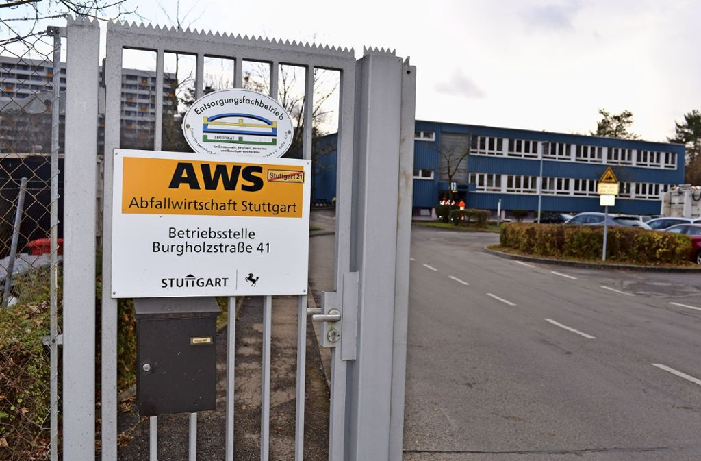 Am AWS-Standort in der Burgholzstraße wird neu gebaut. Foto: Gökalp