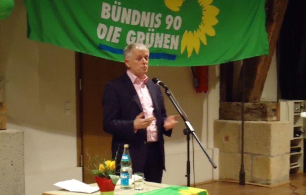 Auf dem Frühlingsempfang der Grünen sprach Fritz Kuhn über seine OB-Kandidatur. Foto: Ina Schäfer