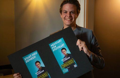Marian Schreier startet den Wahlkampf mit Plakaten