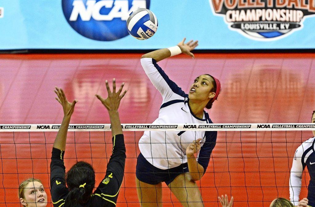 Mittelblockerin mit hoher Angriffsqualität: Nia Grant wechselt zu Volleyball-Bundesligist Allianz MTV Stuttgart. Foto: AP