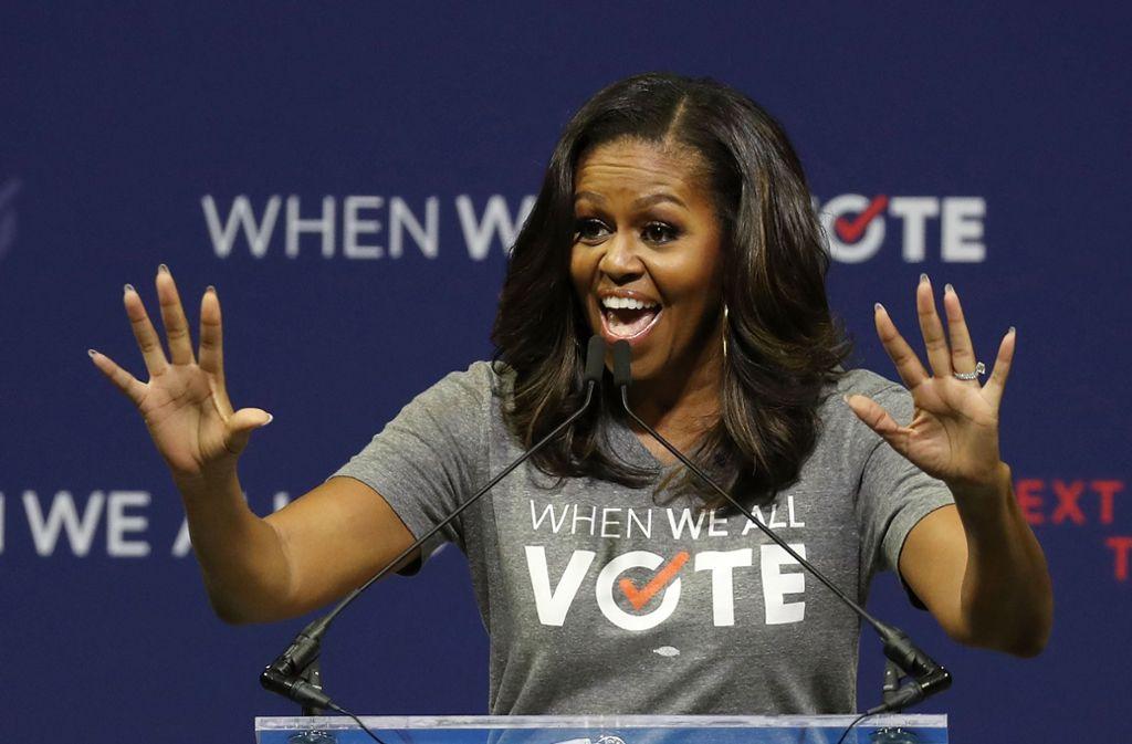Macht sich für mehr Wahlbeteiligung stark: Michelle Obama. Foto: AFP