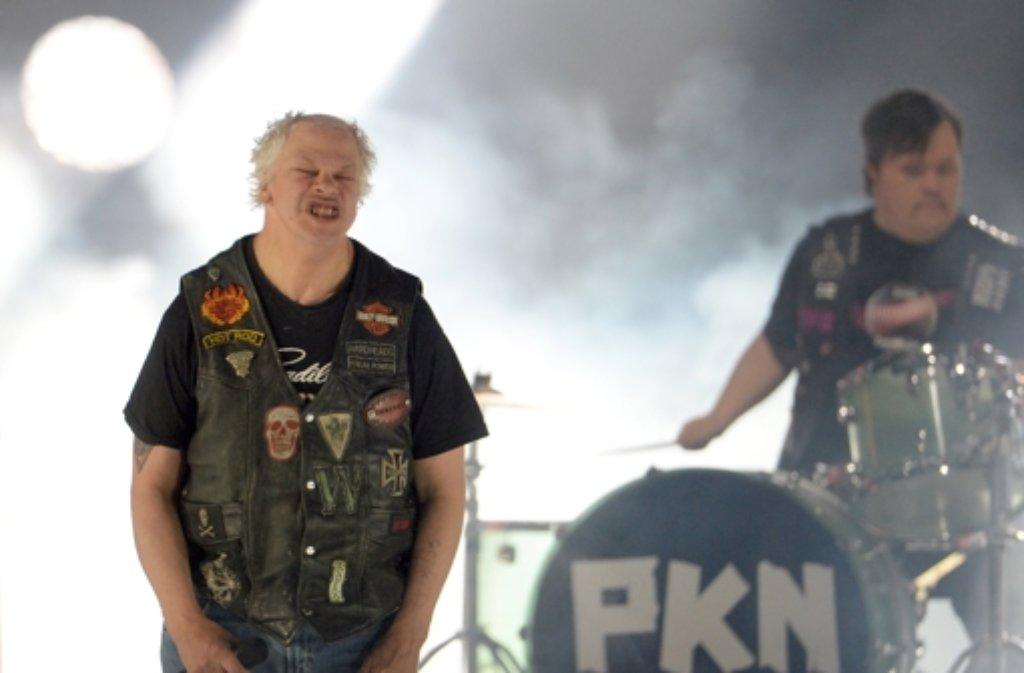 Die finnische Punkband Pertti Kurikan Nimipäivät (PKN) war als Geheimfavorit gehandelt worden, sie schaffte es allerdings nicht ins Finale des Eurovision Song Contests. Foto: dpa