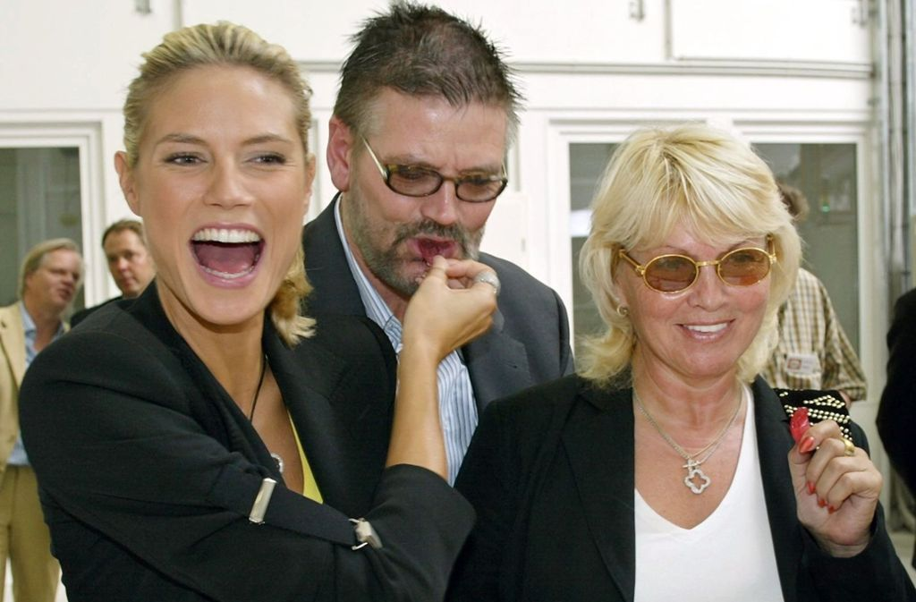 Die Klums mit ihrer Tochter Heidi (Bild aus dem Jahr 2003). Foto: dpa