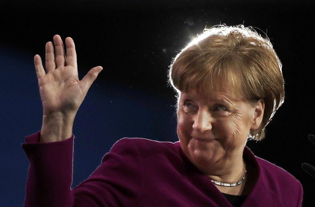 Angela Merkel ist nach eigener Aussage gespannt darauf, wer ihr Nachfolger wird. Foto: AP