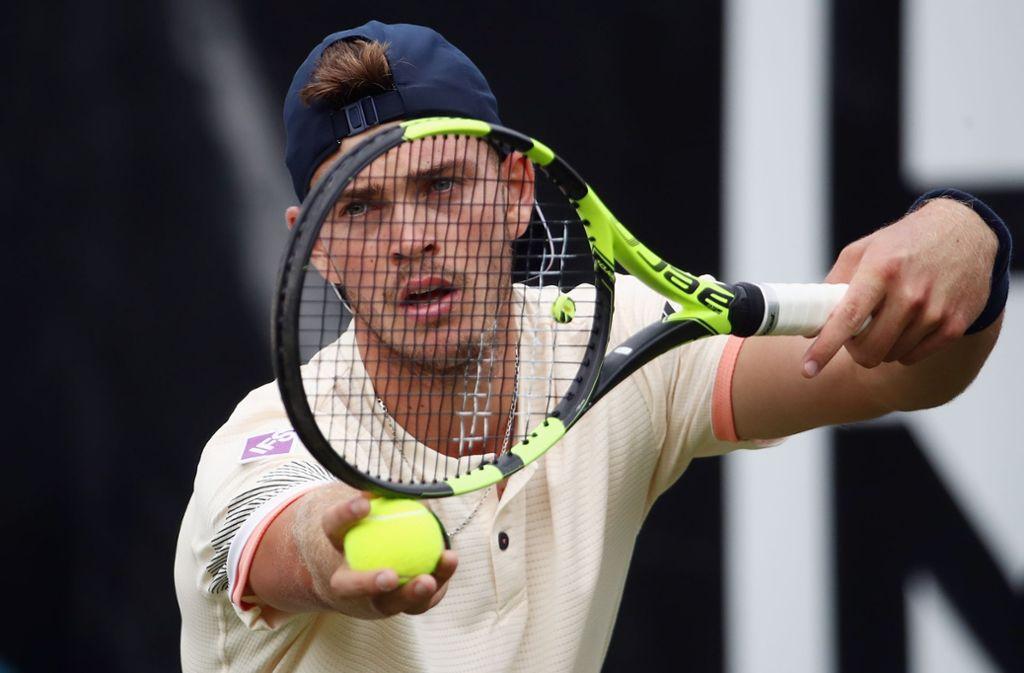 Maximilian Marterer ist beim ATP-Turnier in Stuttgart als vierter deutscher Spieler ins Achtelfinale eingezogen. Foto: Getty Images Europe