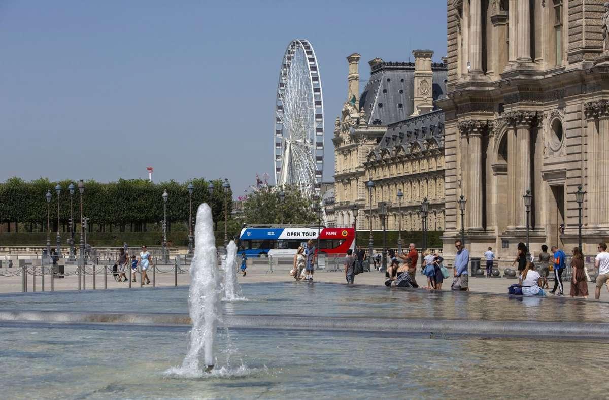 Die Hitze macht den Franzosen zu schaffen. Foto: dpa/Rafael Yaghobzadeh
