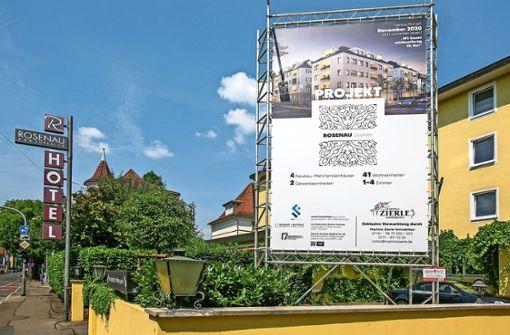 Anstelle des  Oberesslinger Hotels Rosenau entstehen 41 Wohnungen