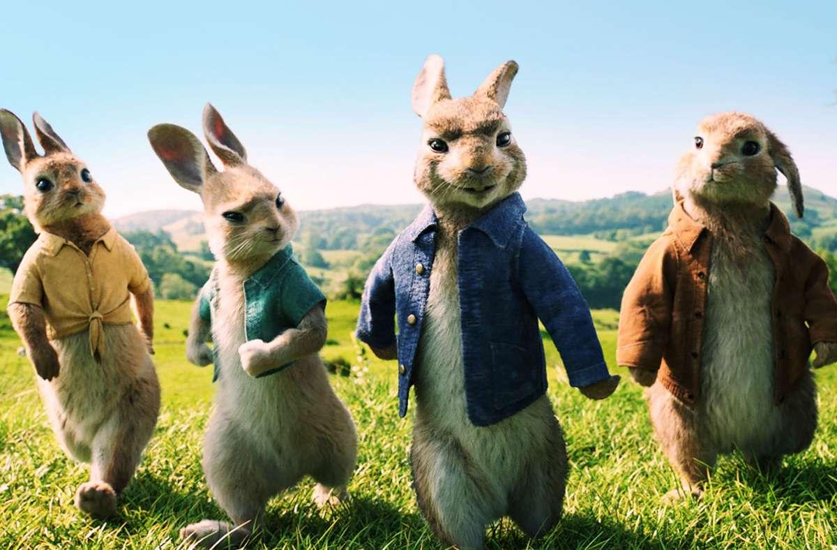 """Kinder wollen zu Ostern Hasen sehen: """"Peter Hase"""" im ZDF macht das leicht möglich. Foto: ZDF//Sony Pictures"""