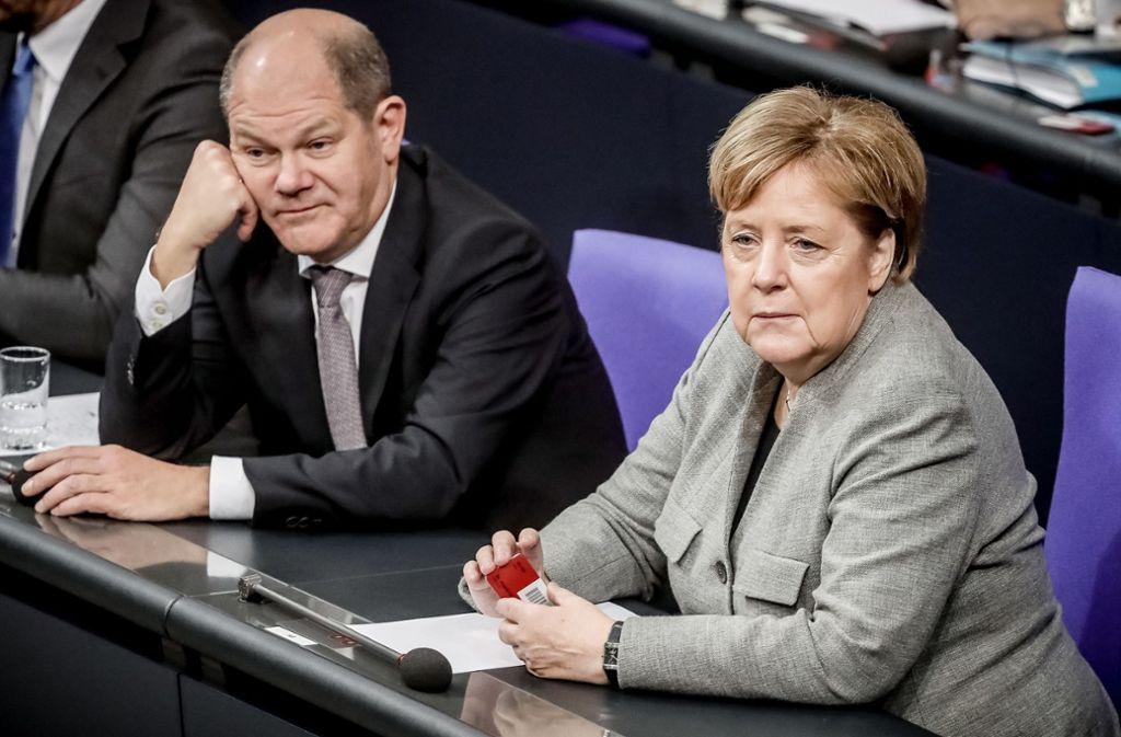 Finanzminister Olaf Scholz (SPD) wird eine ideenlose Ausgabenpolitik nach dem Prinzip Gießkanne vorgeworfen. Foto: dpa