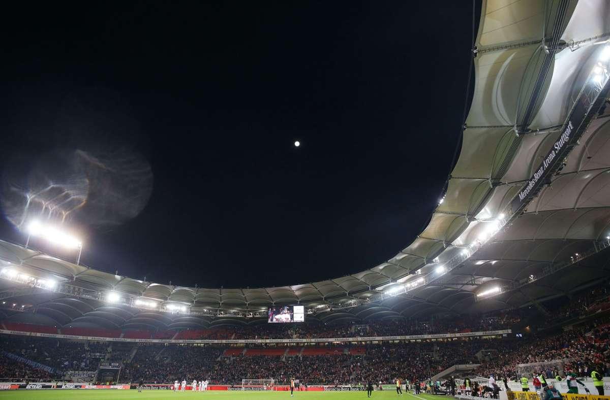 Eine gut gefüllte Mercedes-Benz-Arena gab es zuletzt am 9. März 2020 – der VfB empfing damals Arminia Bielefeld. Foto: Baumann