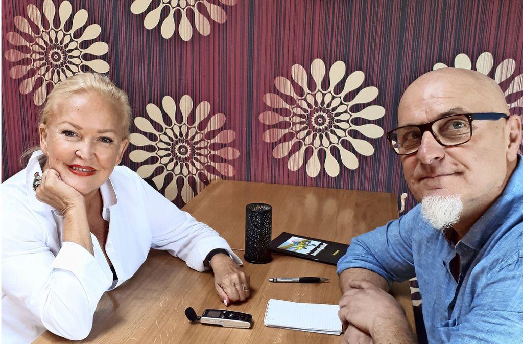 Angelika Milster im Gespräch mit Edgar Rehberger. Foto:
