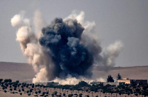 Türkische Jets greifen Kurden an