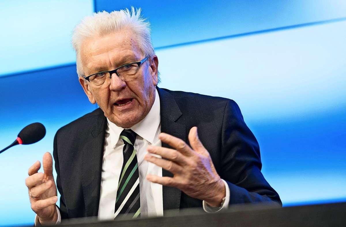 Winfried Kretschmann (Grüne) Foto: