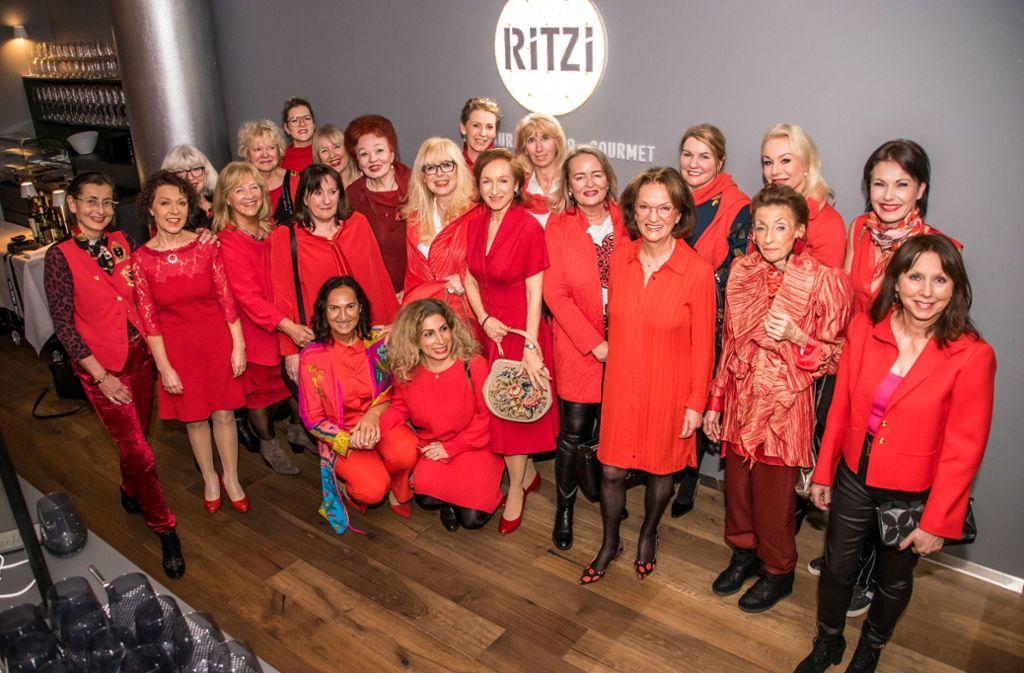 Gründungstreffen des Red Ladys Club von Stuttgart im Restaurant Ritzi. Foto: Andy Werner