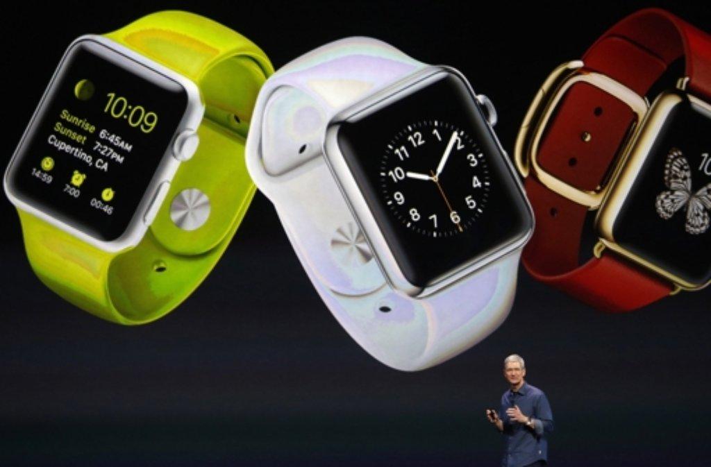 Wird heute auch die Apple Watch vorgestellt? Foto: EPA