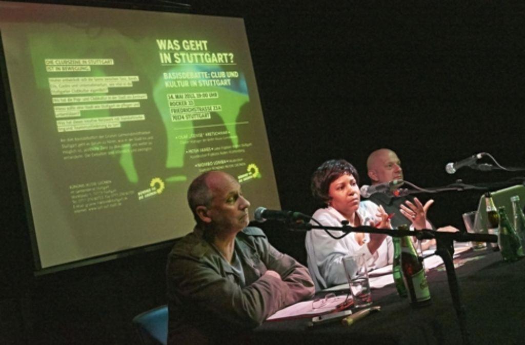 Peter James, Niombo Lomba und Olaf Kretschmar (v.links) Foto: Heinz Heiss