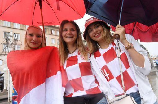 Zehntausende jubeln beim Public Viewing in Zagreb