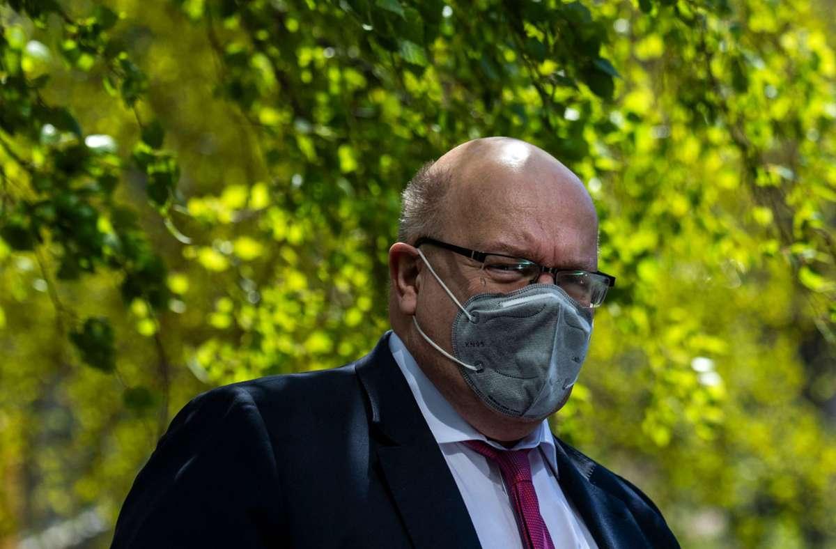 """Die Transformation der Stahlindustrie bezeichnet Bundeswirtschaftsminister Altmaier als """"Daueraufgabe"""". (Archivbild) Foto: AFP/JOHN MACDOUGALL"""