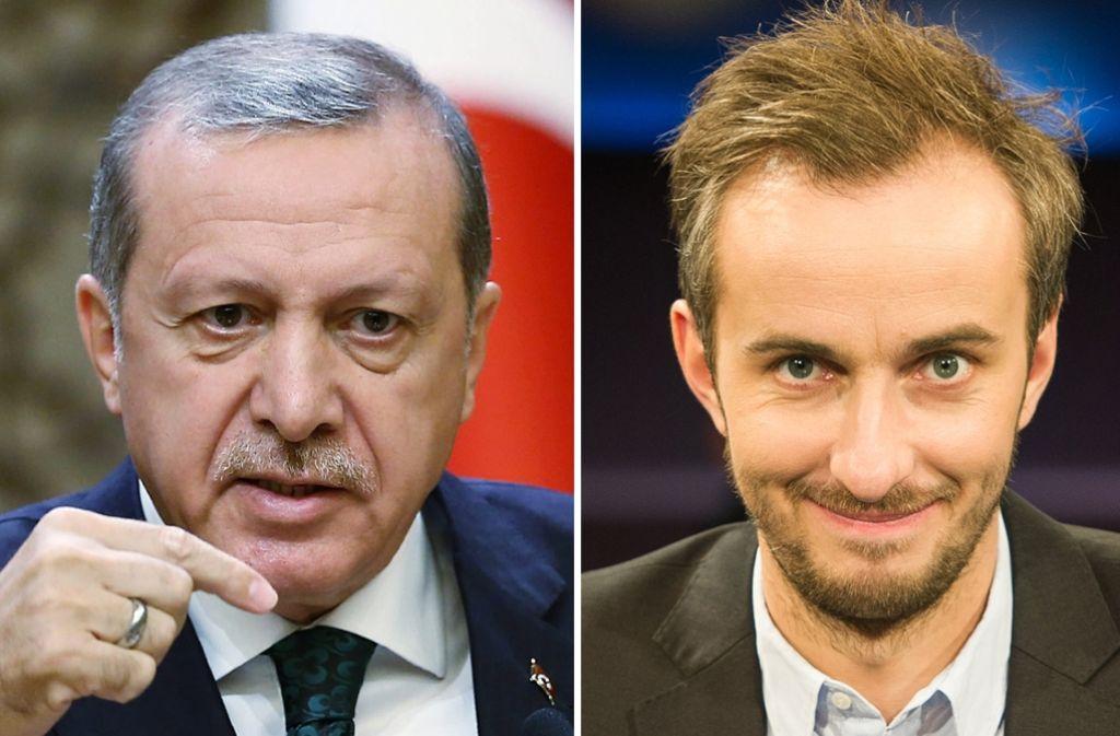 Obwohl Erdogan die Rücknahme aller Anzeigen wegen Beleidigung ankündigt, läuft das Verfahren gegen Jan Böhmermann in Deutschland vorerst weiter. Foto: dpa/Presidential Press Office
