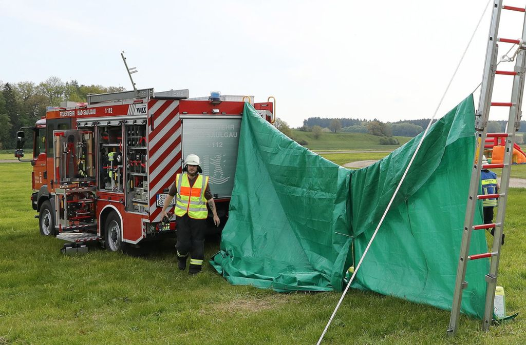 Bei dem Flugunglück in Bad Saulgau waren zwei Männer ums Leben gekommen. Foto: dpa