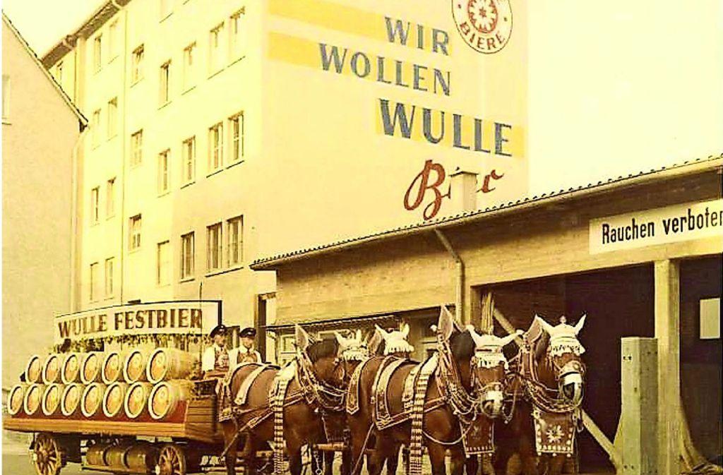 Das Wulle-Festbier auf dem Weg zum  Cannstatter Wasen. Ab 2020 wieder am Start. Foto: Familienbrauerei Dinkelacker