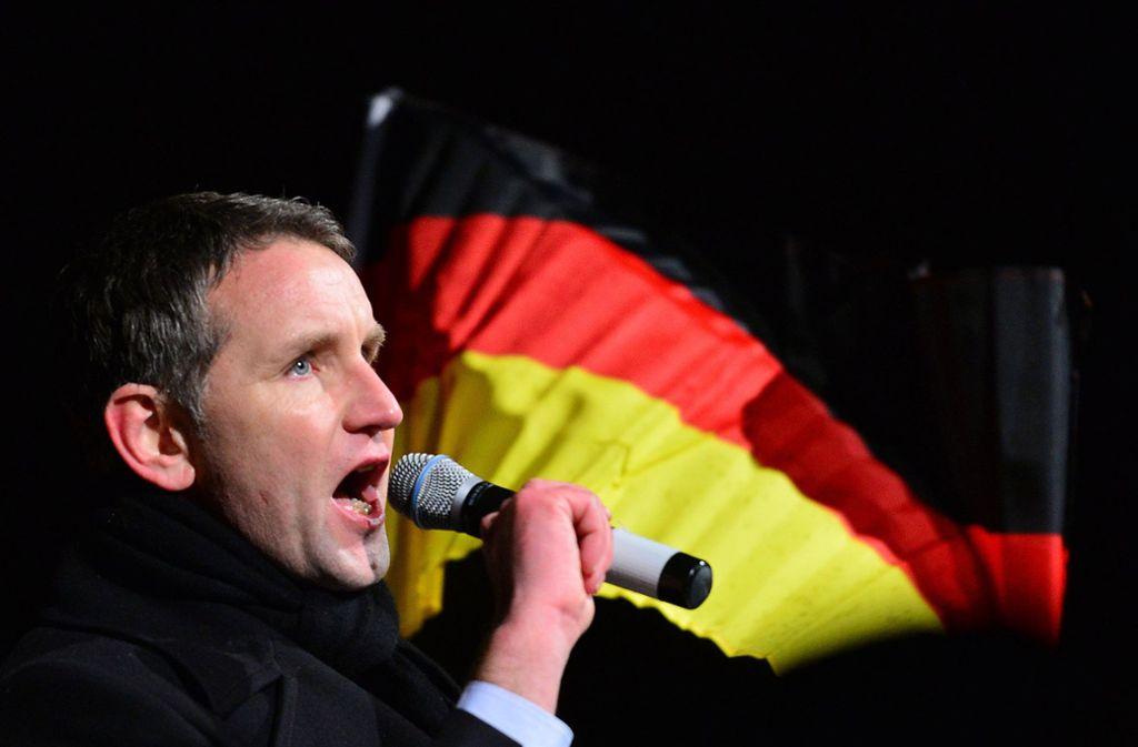Der AfD-Politiker Björn Höcke sorgte mit seinen Sprüchen für einige der größten Aufreger im Jahr 2017 Foto: dpa