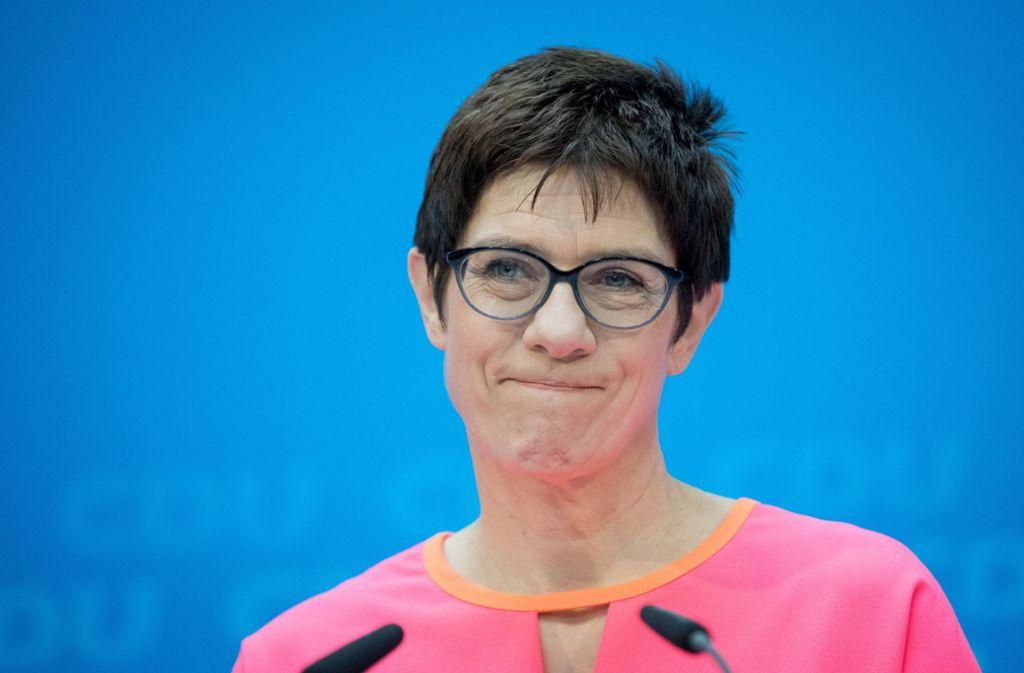 Annegret Kramp-Karrenbauer soll am kommenden Montag zur neuen CDU-Generalsekretärin gewählt werden. Foto: dpa