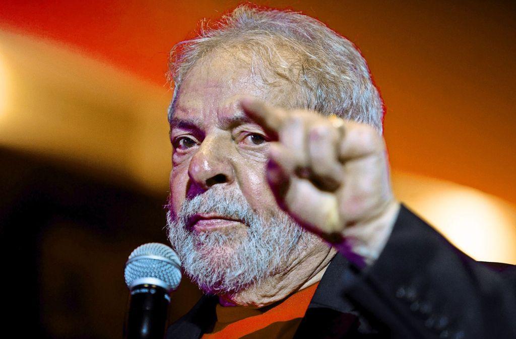 Lula da Silva will noch einmal für das Präsidentenamt in Brasilien antreten.  Bekommt Brasiliens Ex-Präsident  da Silva eine zweite Chance? Foto: dpa