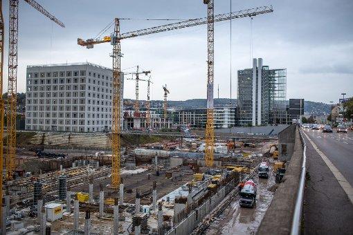 Baustellen in Stuttgart: Das Milaneo im Oktober