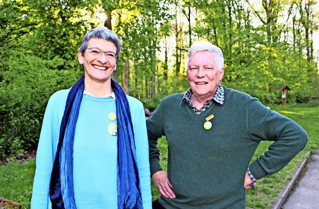 Irene Kamm und Manfred Riesle verstehen sich als Team. Foto: Holowiecki