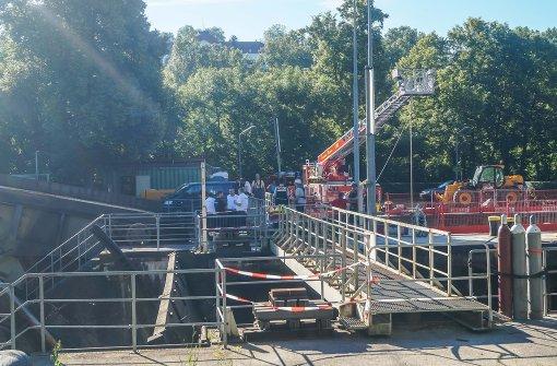 Toten in Neckar-Schleuse entdeckt