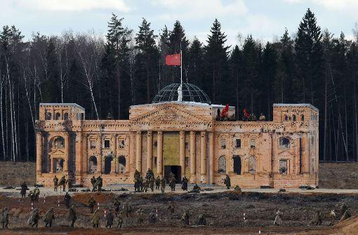 Mini-Reichstag als Attraktion im Freizeitpark