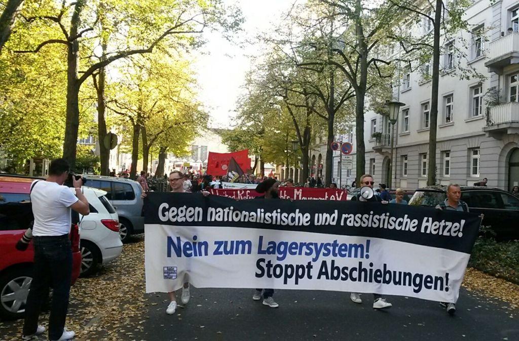 In Karlsruhe haben Menschen gegen Rassismus demonstriert. Foto: Aktion Bleiberecht