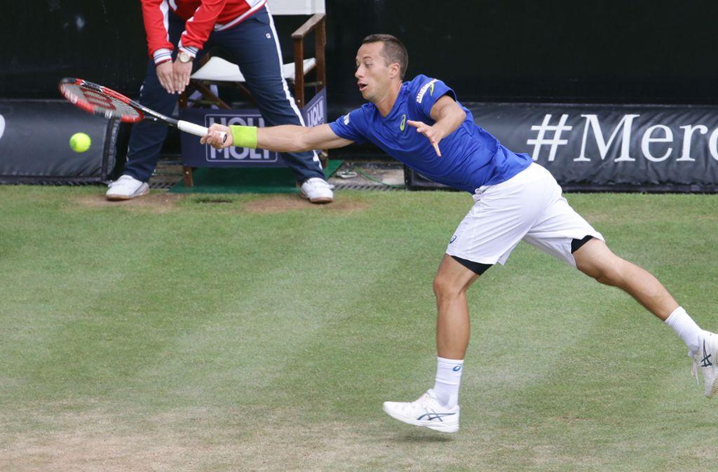 Auch Philipp Kohlschreiber gehört zum Teilnehmerfeld der Tenniscracks beim traditionellen Turnier am Stuttgarter Weissenhof. Foto: Baumann