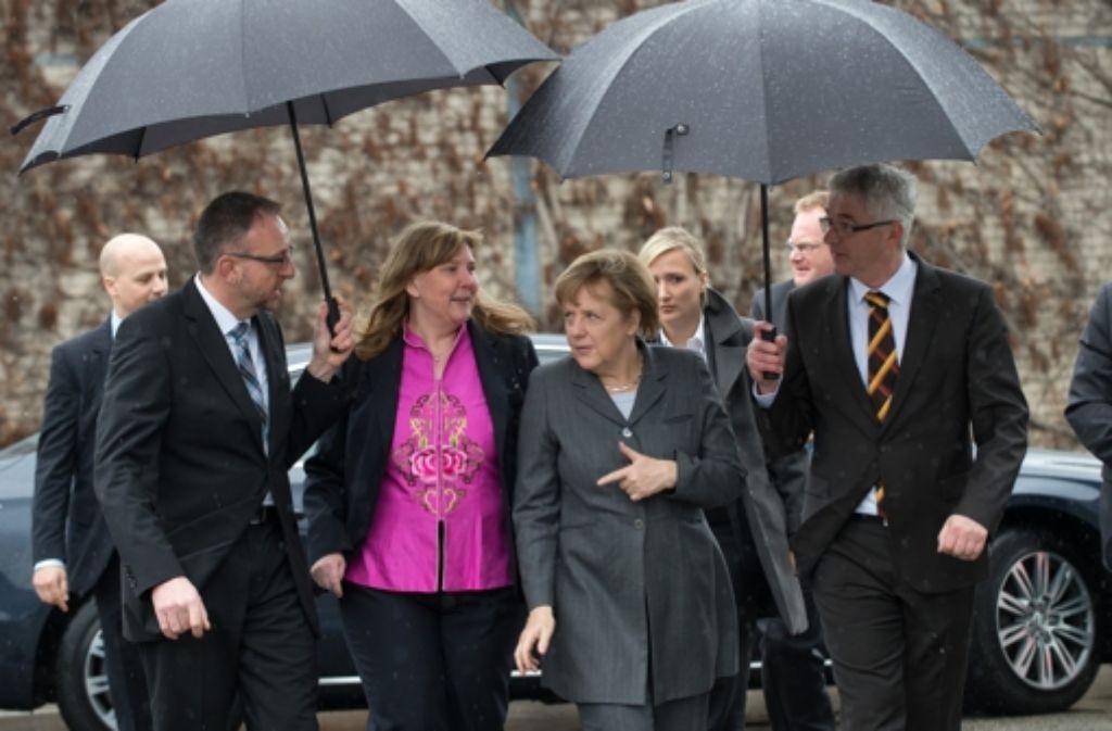 Die Kanzlerin Angela Merkel zu Gast in Leinfelden. Foto: dpa
