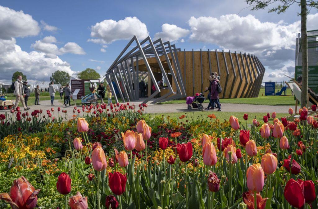 Blühende Tulpen bei der Bundesgartenschau in Heilbronn. Die Gartenbauer könnten sich eine Bundesgartenschau auch in Stuttgart gut vorstellen. Foto: Pressebild Buga/Jürgen Häffner