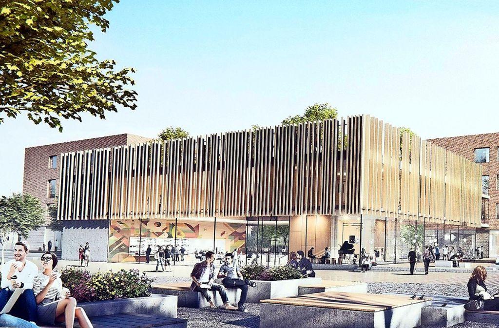Der neue Schulcampus an der Klagenfurter Straße soll im Jahr 2027 fertig sein. Die  Kosten werden derzeit auf  67,3 Millionen Euro geschätzt. Foto: Lichtgut/Leif Piechowski