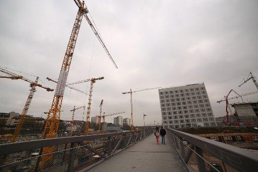 Die Milaneo-Baustelle im November