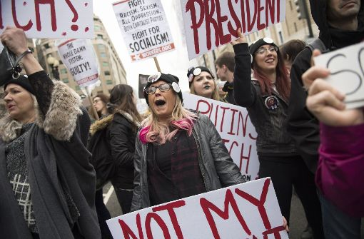 Großdemonstration gegen Trump in Washington