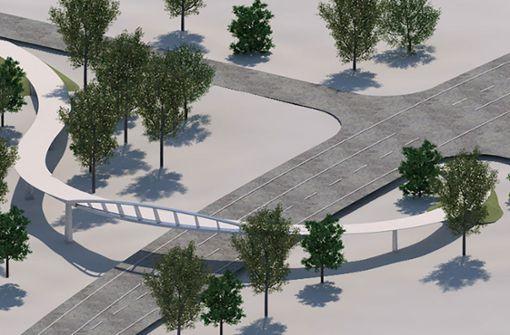Brückenbau für den Radschnellweg