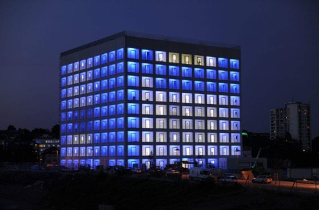 Die neue Stadtbibliothek am Mailänder Platz. Foto: dpa