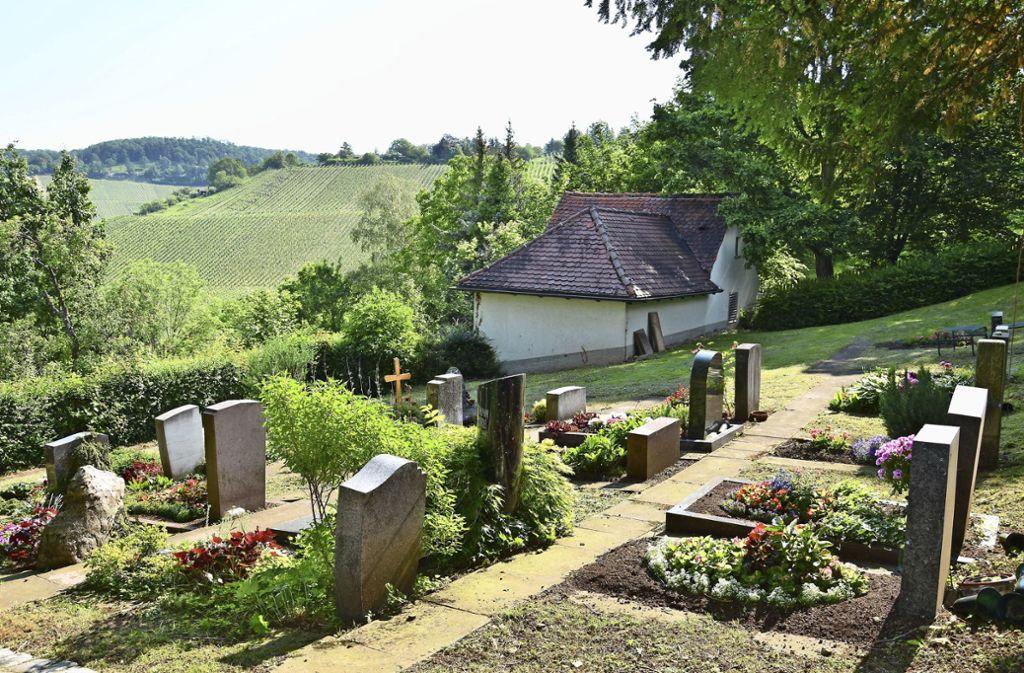 Auf dem Rotenberger Friedhof werden endlich Rasengräber ausgewiesen, die Rotenbergern vorbehalten sind. Foto: Kuhn