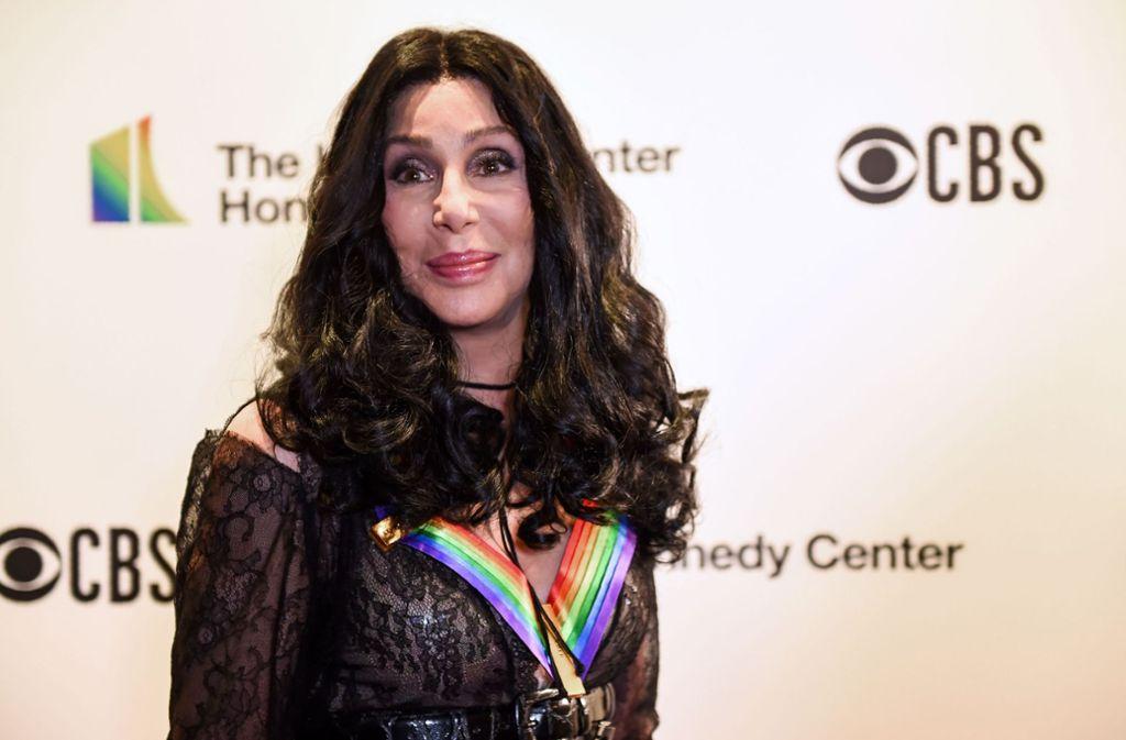 US-Sängerin und Schauspielerin Cher wurde für ihr popkulturelles Lebenswerk geehrt. Foto: AFP