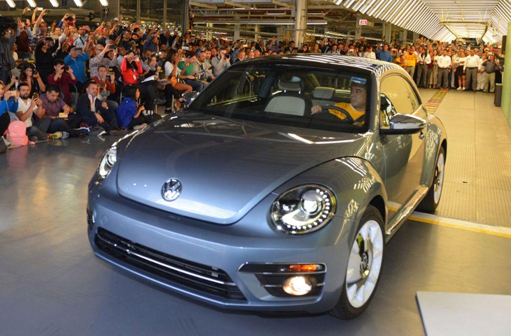 Der letzte Beetle, der in Mexiko produziert wurde. Foto: ALEX BERTHEAU/Volkswagen Mexico