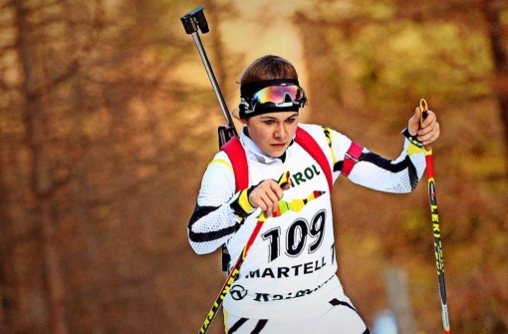 Anfang Januar hat  sich  Marina Sauter  für die Junioren-Weltmeisterschaft qualifiziert. Es wird der bislang größte  Wettkampf ihrer Laufbahn. Foto: Harald Deubert