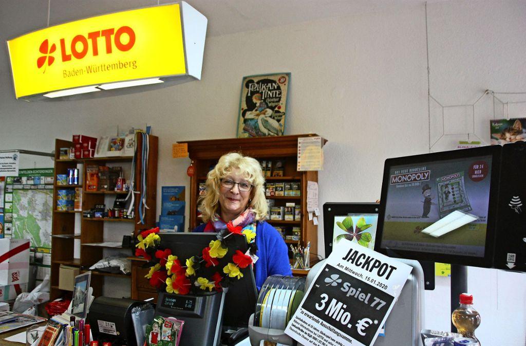 Gabriele Schöttles Entschluss steht fest: Sie wird ihren Laden an der Stettener Hauptstraße schließen Foto: Natalie/ Kanter,