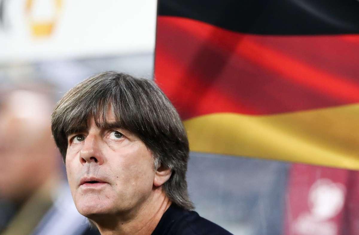 Bundestrainer Joachim Löw gab seinen Rücktritt im Sommer bekannt. Foto: dpa/Christian Charisius